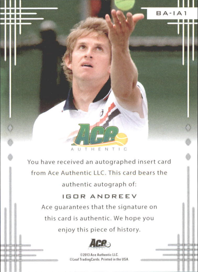 2013 Ace Authentic #BAIA1 Igor Andreev