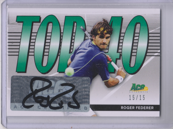 2013 Ace Authentic Top 40 Autographs #T40RF1 Roger Federer/15