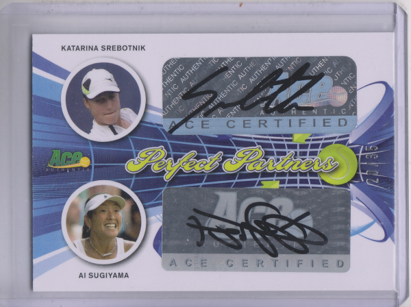 2013 Ace Authentic Perfect Partners Dual Autographs #30 Katarina Srebotnik/ Ai Sugiyama