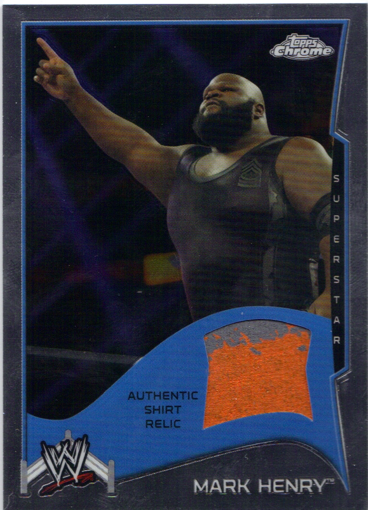 2014 Topps Chrome WWE Swatch Relics #MH Mark Henry