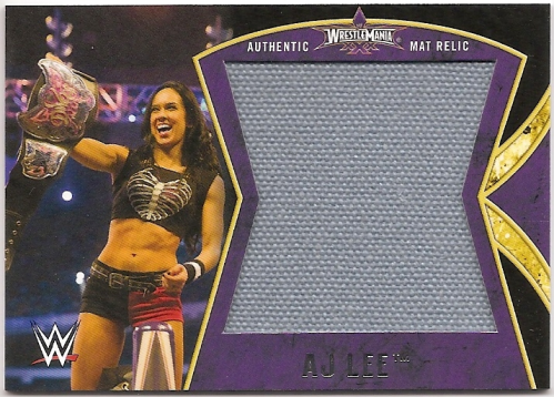 2014 Topps WWE Road to Wrestlemania Wrestlemania 30 Mat Relics #AJ AJ Lee