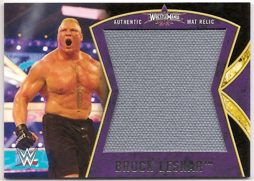 2014 Topps WWE Road to Wrestlemania Wrestlemania 30 Mat Relics #BL Brock Lesnar