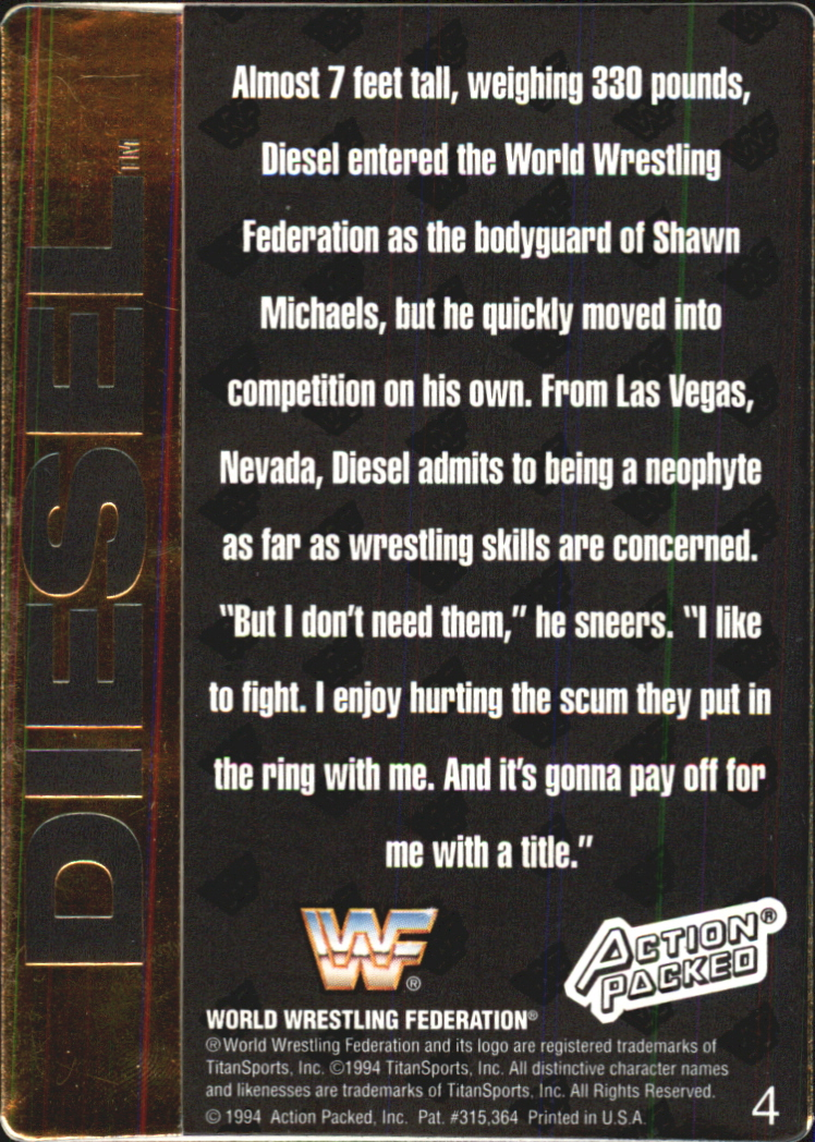 1994 Action Packed WWF #4 Diesel