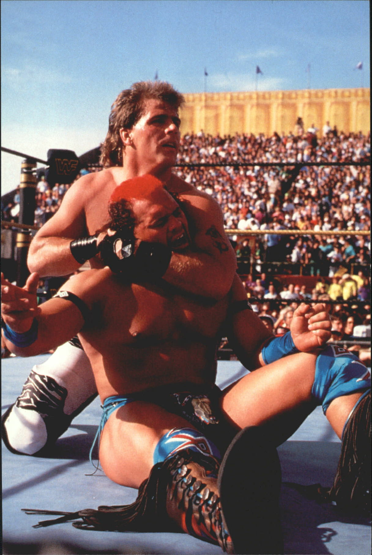 1999 WWF Wrestlemania Live 4 X 6 #15 Shawn Michaels/Tatanka