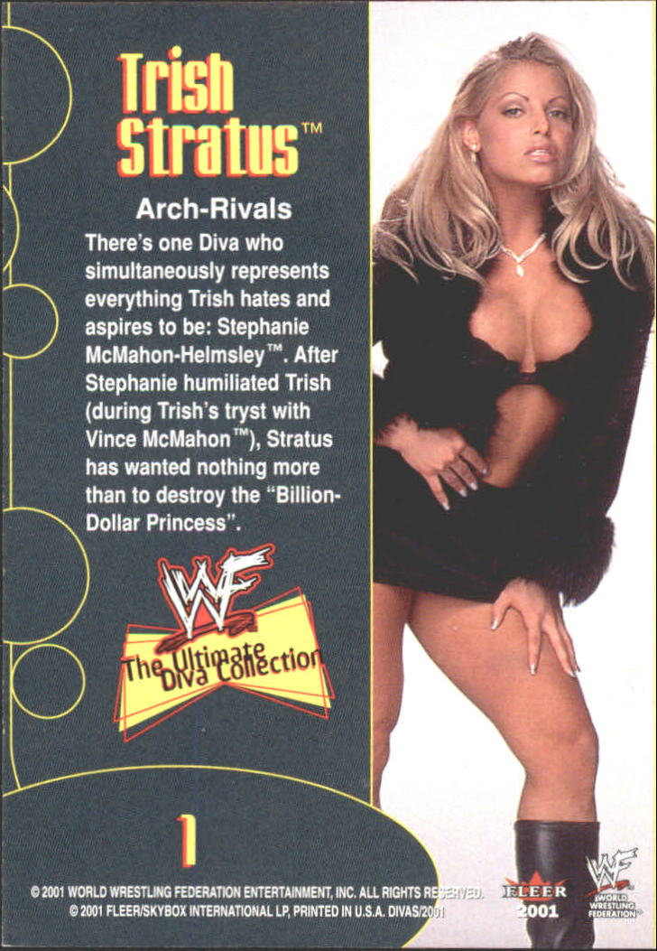 2001 Fleer WWF The Ultimate Diva Collection #1 Trish Stratus