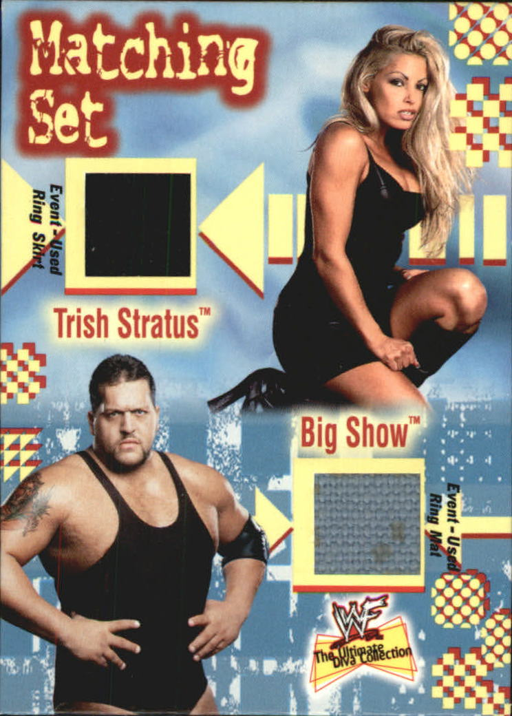 2001 Fleer WWF The Ultimate Diva Collection Matching Set #1 Trish Stratus/Big Show