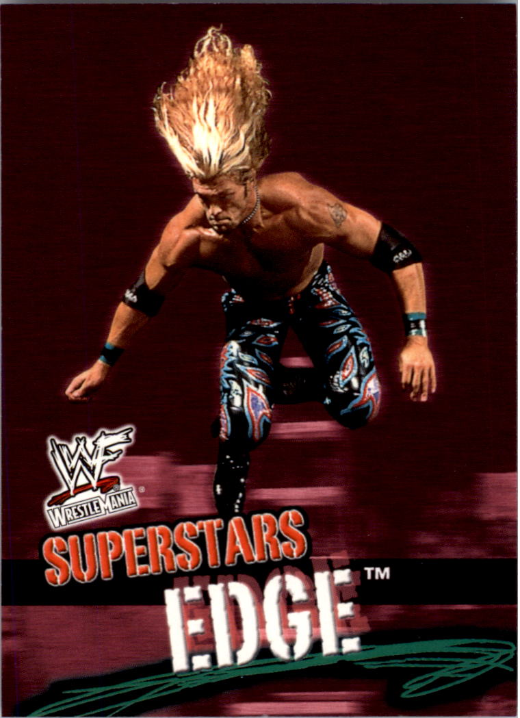 2001 Fleer WWF Wrestlemania #21 Edge