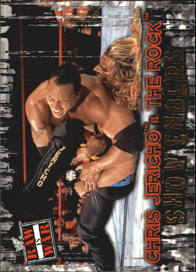 2001 Fleer WWF Raw Is War #89 Chris Jericho/The Rock