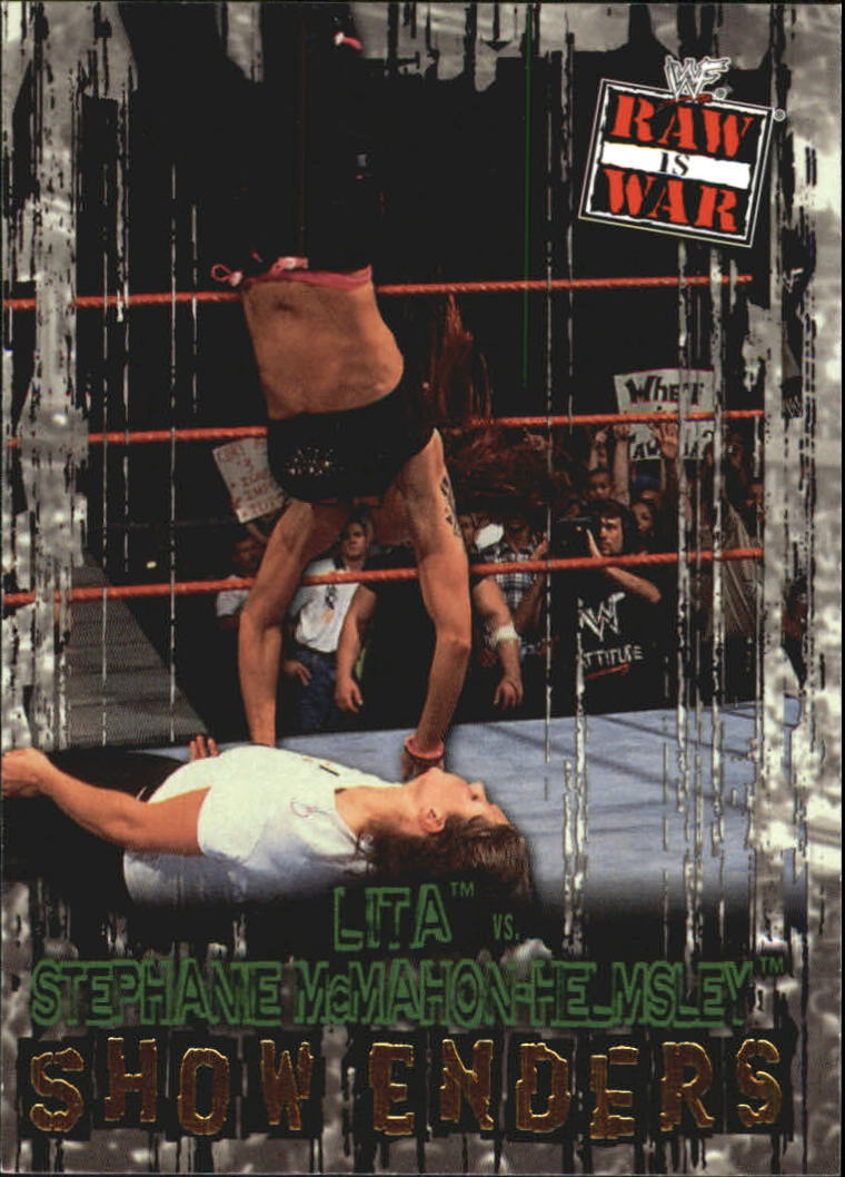 2001 Fleer WWF Raw Is War #99 Lita/Stephanie McMahon