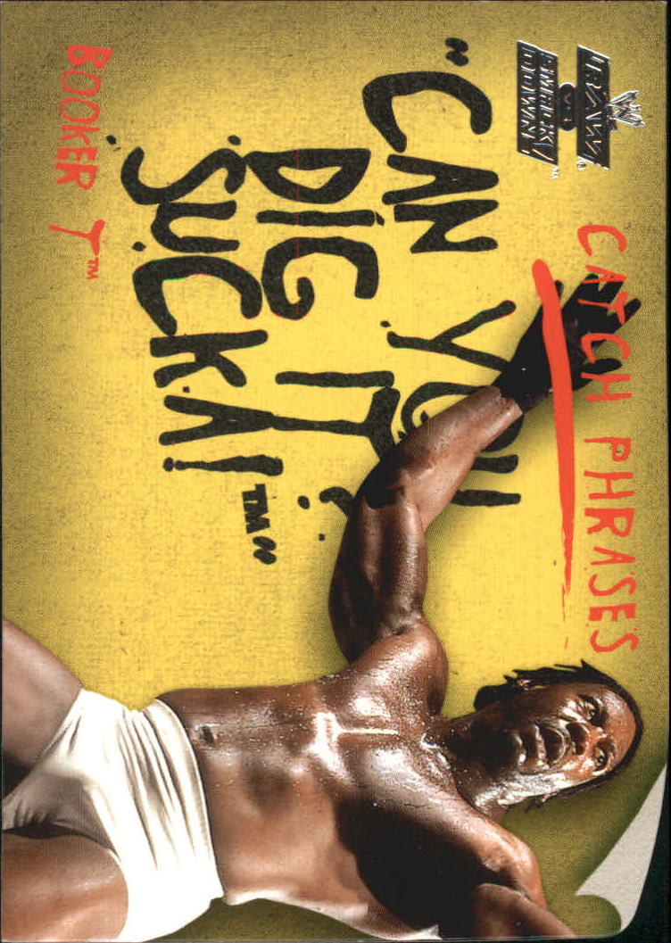 2002 Fleer WWE Raw vs. Smackdown Catchphrases #CP10 Booker T
