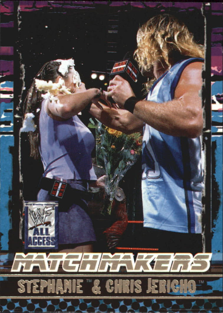 2002 Fleer WWF All Access Match Makers #MM7 Stephanie McMahon/Chris Jericho