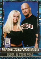 2002 Fleer WWF All Access Match Makers #MM3 Debra/Stone Cold Steve Austin