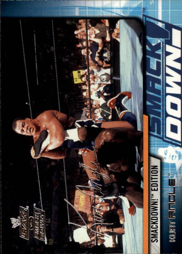 2002 Fleer WWE Raw vs. Smackdown #3 Kurt Angle