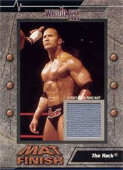 2003 Fleer WWE WrestleMania XIX Mat Finish #7 The Rock