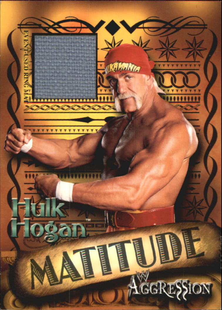 2003 Fleer WWE Aggression Matitude Event Used #MHH Hollywood Hulk Hogan