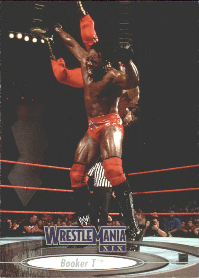 2003 Fleer WWE WrestleMania XIX #55 Booker T