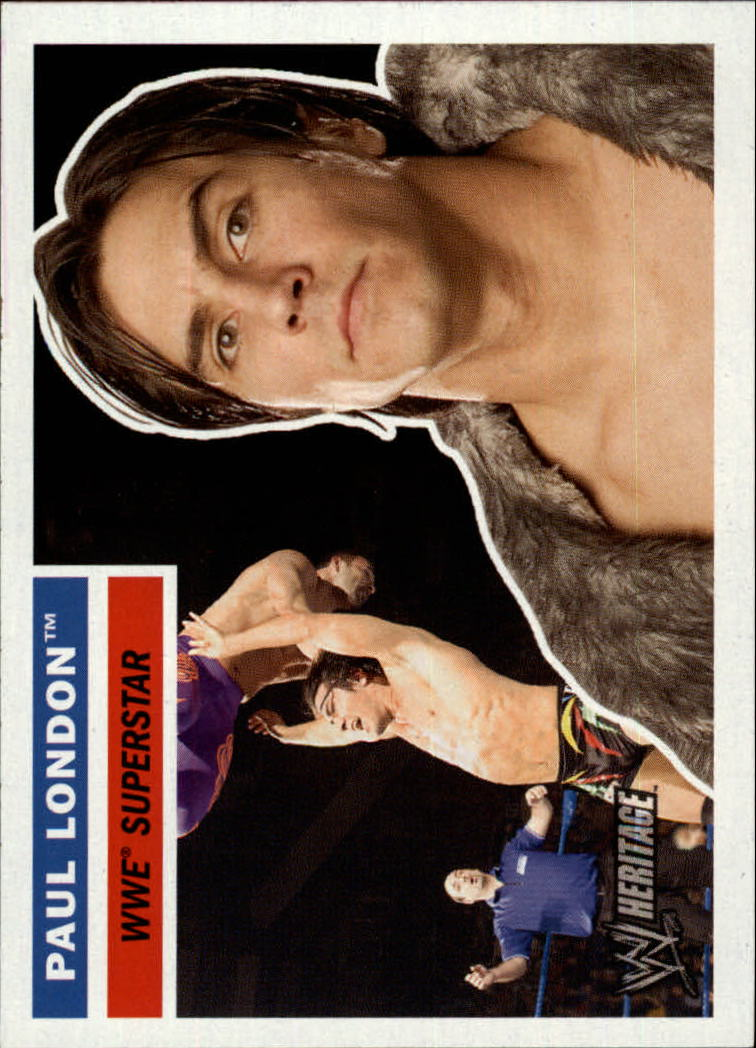 2005 Topps Heritage WWE #5 Paul London