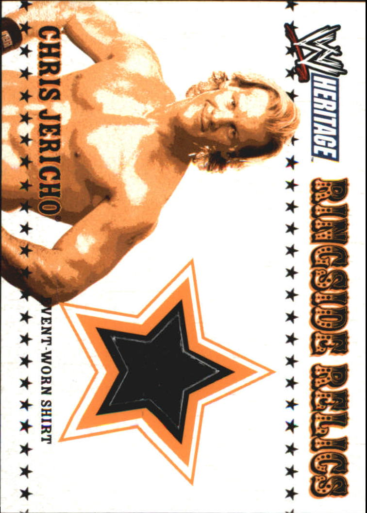 2005 Topps Heritage WWE Ringside Relics  #6 Chris Jericho
