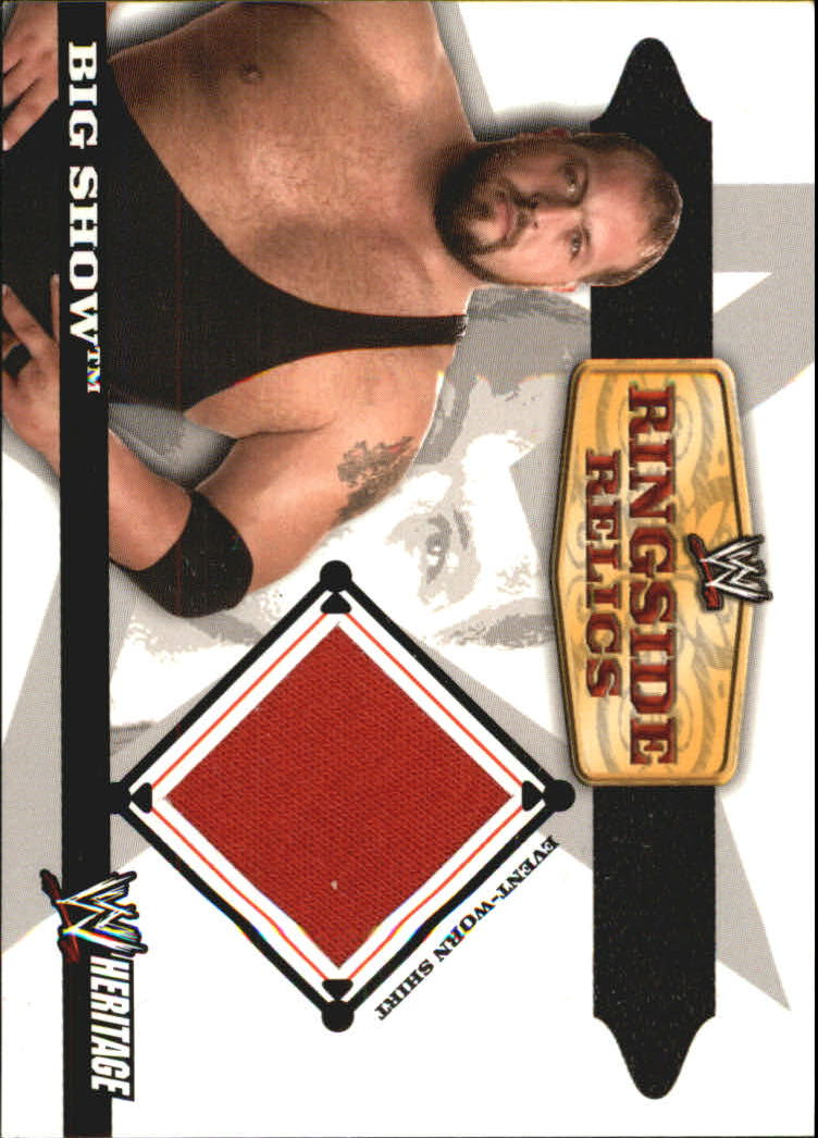 2006 Topps Heritage II WWE Ringside Relics #BS Big Show