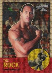2007 Topps Heritage II Chrome WWE Super-Fractors #10 The Rock