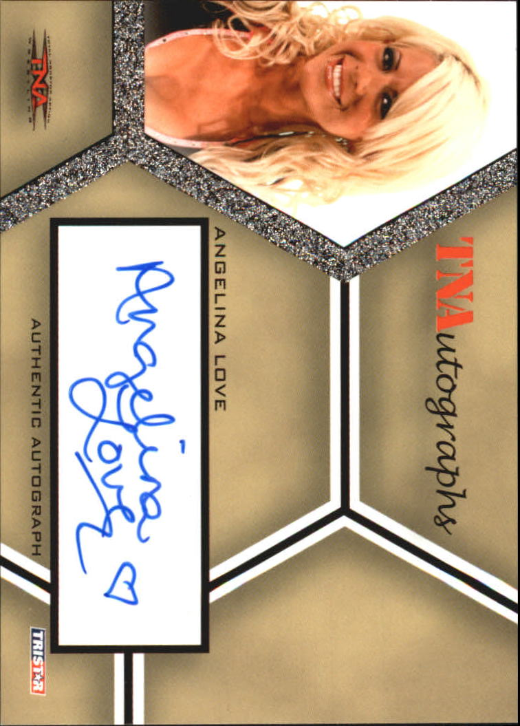 2008 TriStar TNA Impact Autographs #AAL Angelina Love