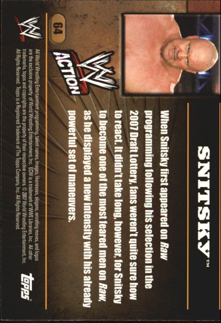 2007 Topps Action WWE #64 Snitsky