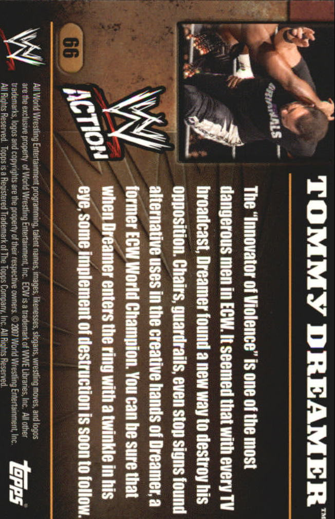 2007 Topps Action WWE #66 Tommy Dreamer