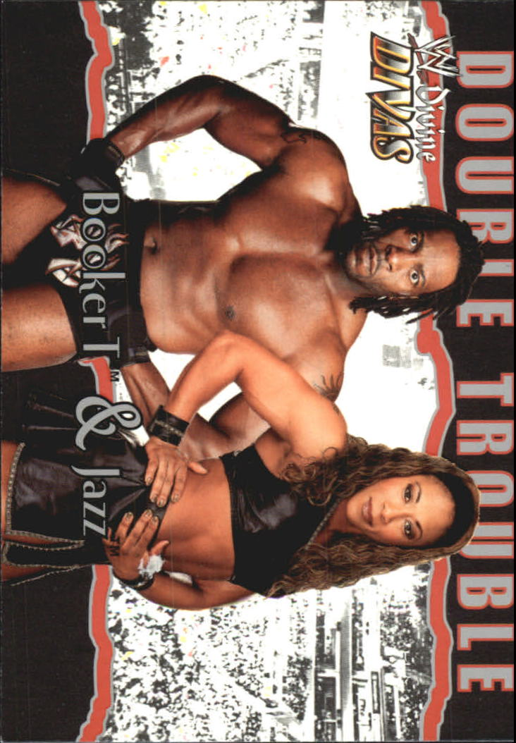 2003 Fleer WWE Divine Divas #87 Booker T/Jazz DT