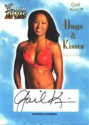2003 Fleer WWE Divine Divas Hugs And Kisses Autographs #2 Gail Kim