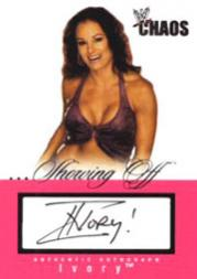 2004 Fleer WWE Chaos Showing Off Autographs #3 Ivory