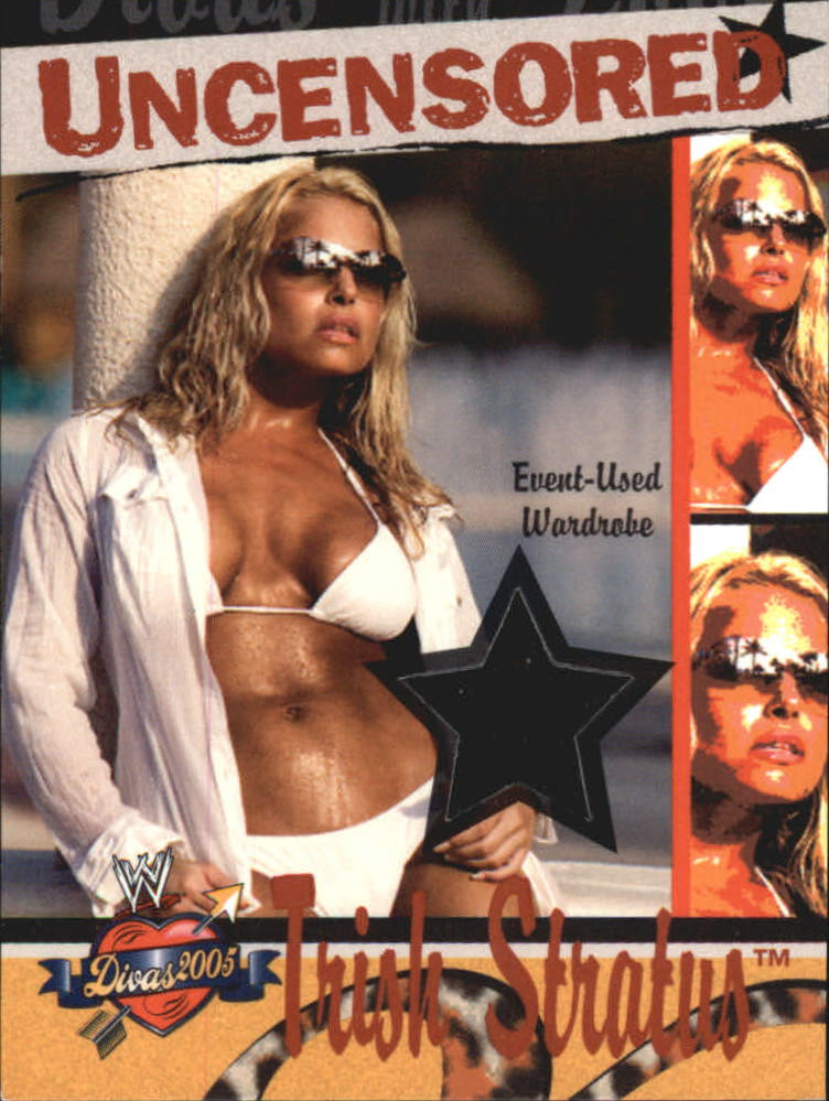 2004 Fleer WWE Divine Divas 2005 Divas Uncensored Memorabilia #DUTS Trish Stratus