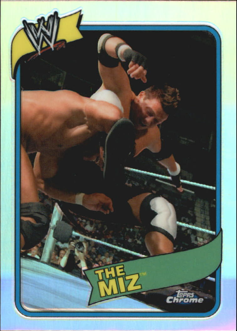 2008 Topps Heritage III Chrome WWE Refractors #35 The Miz