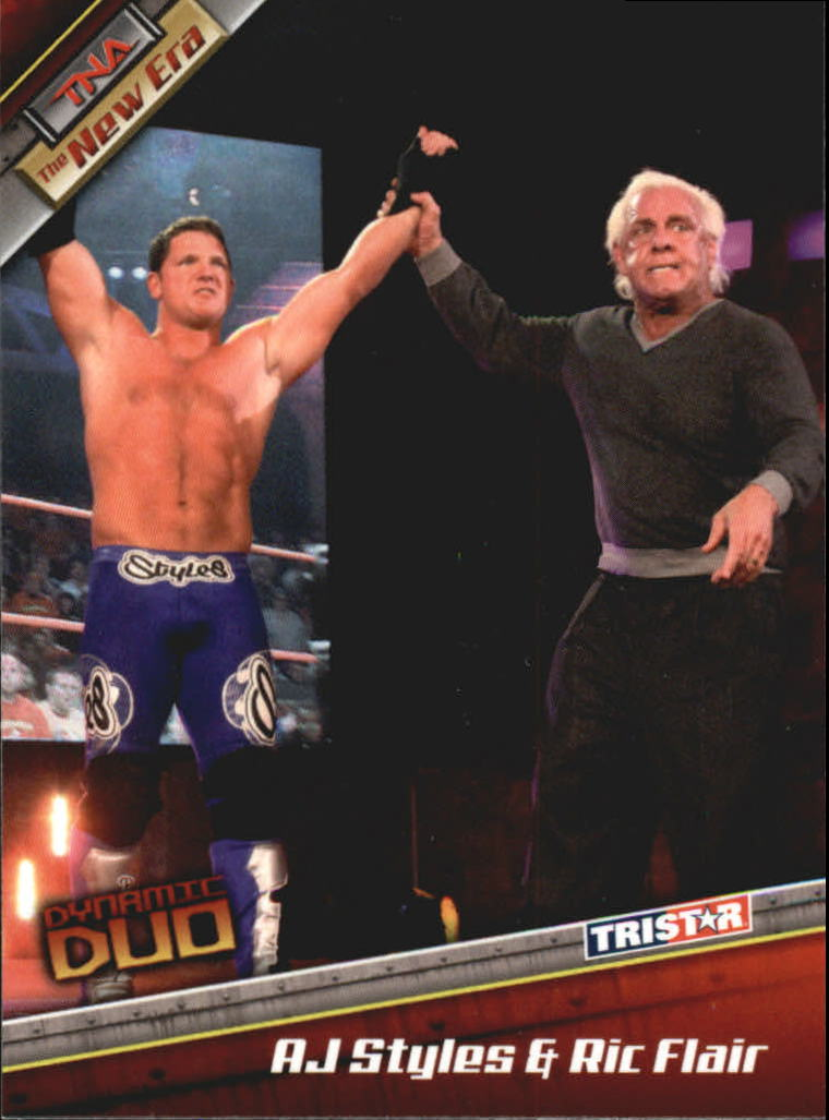 2010 TriStar TNA New Era #74 Ric Flair & AJ Styles