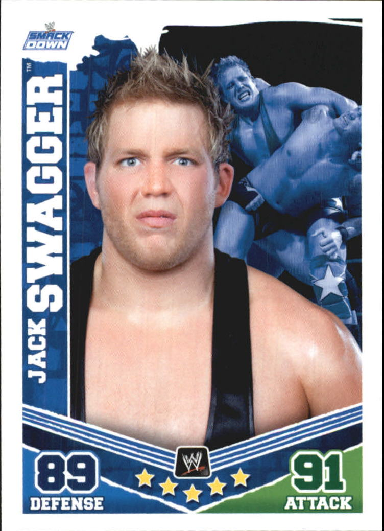 2010 Topps Slam Attax Mayhem WWE #52 Jack Swagger