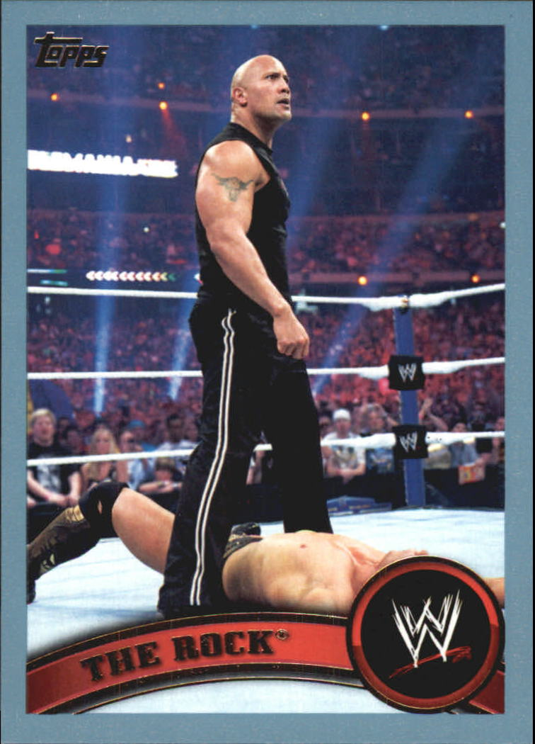 2011 Topps WWE Blue #82 The Rock