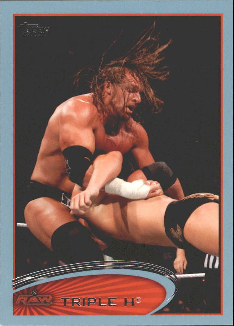 2012 Topps WWE Blue #47 Triple H
