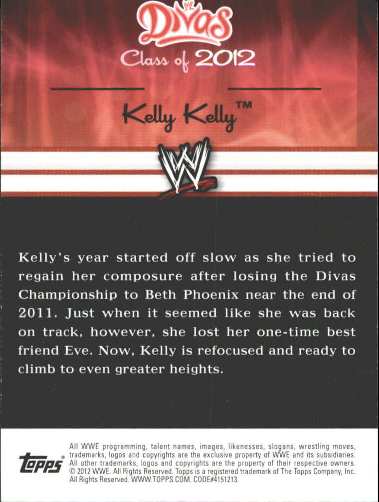 2012 Topps WWE Divas Class of 2012 Autographs #5 Kelly Kelly