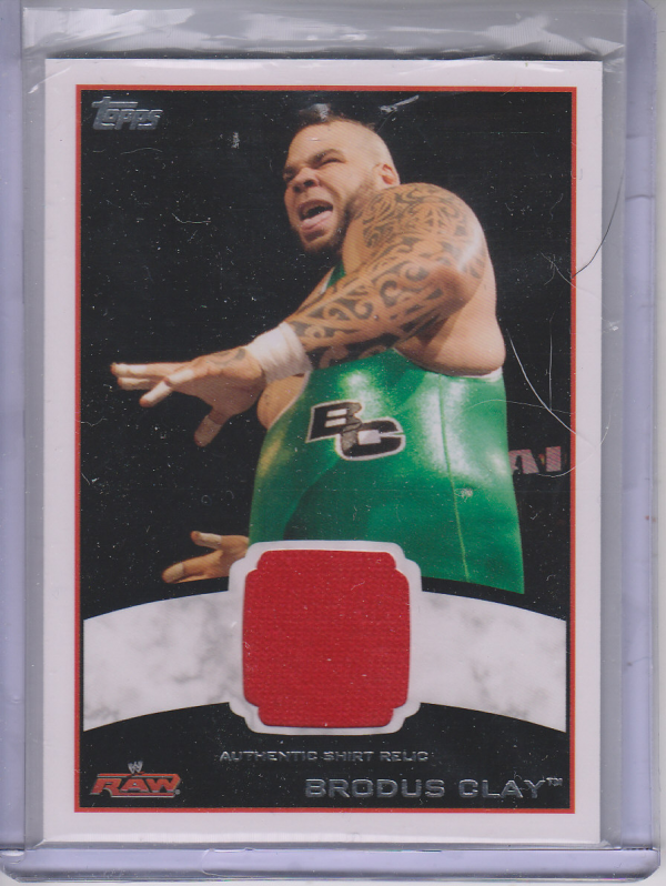 2012 Topps WWE Shirt Relics #3 Brodus Clay