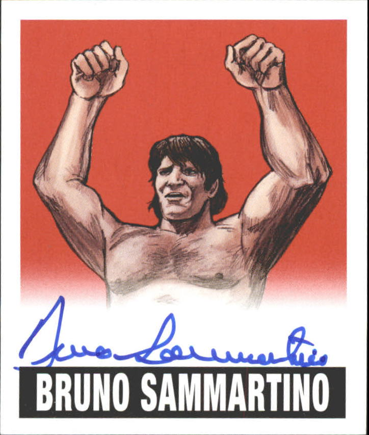 2012 Leaf Originals Wrestling Alternate Art Red #ABS1 Bruno Sammartino