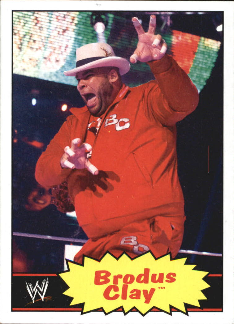 2012 Topps Heritage WWE #8 Brodus Clay