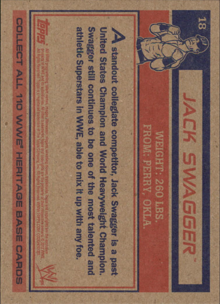 2012 Topps Heritage WWE #18 Jack Swagger