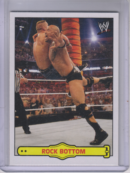 2012 Topps Heritage WWE Ringside Action #25 The Rock/ Rock Bottom