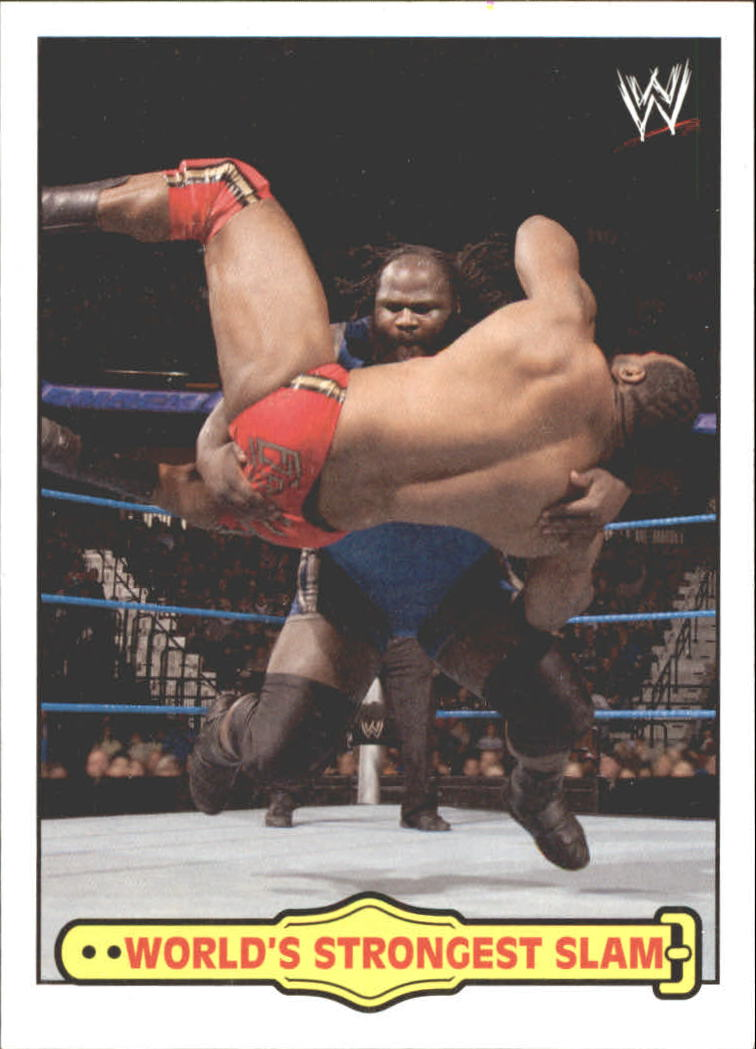 2012 Topps Heritage WWE Ringside Action #39 Mark Henry/ World's Strongest Slam