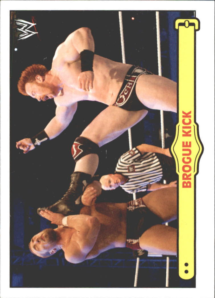2012 Topps Heritage WWE Ringside Action #47 Sheamus / Brogue Kick