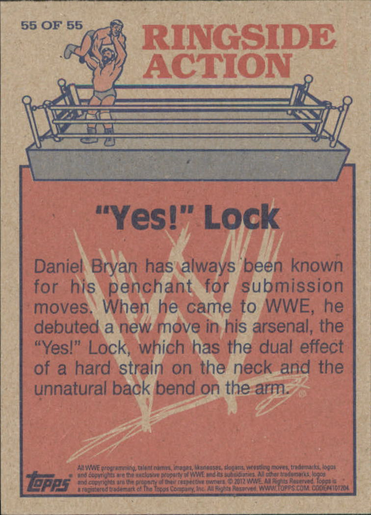 2012 Topps Heritage WWE Ringside Action #55 Daniel Bryan/ Yes! Lock