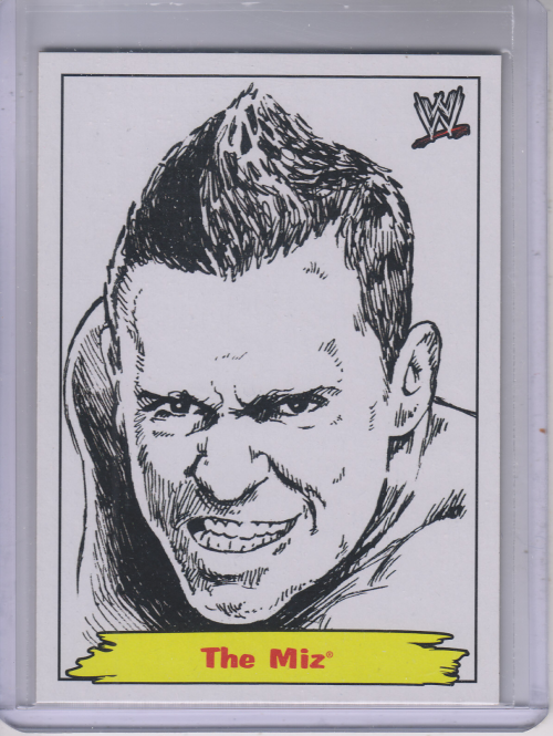 2012 Topps Heritage WWE Jerry the King Lawler Portraits #9 The Miz