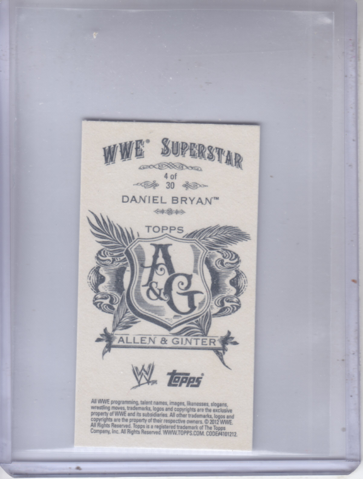 2012 Topps Heritage WWE Allen and Ginter #4 Daniel Bryan