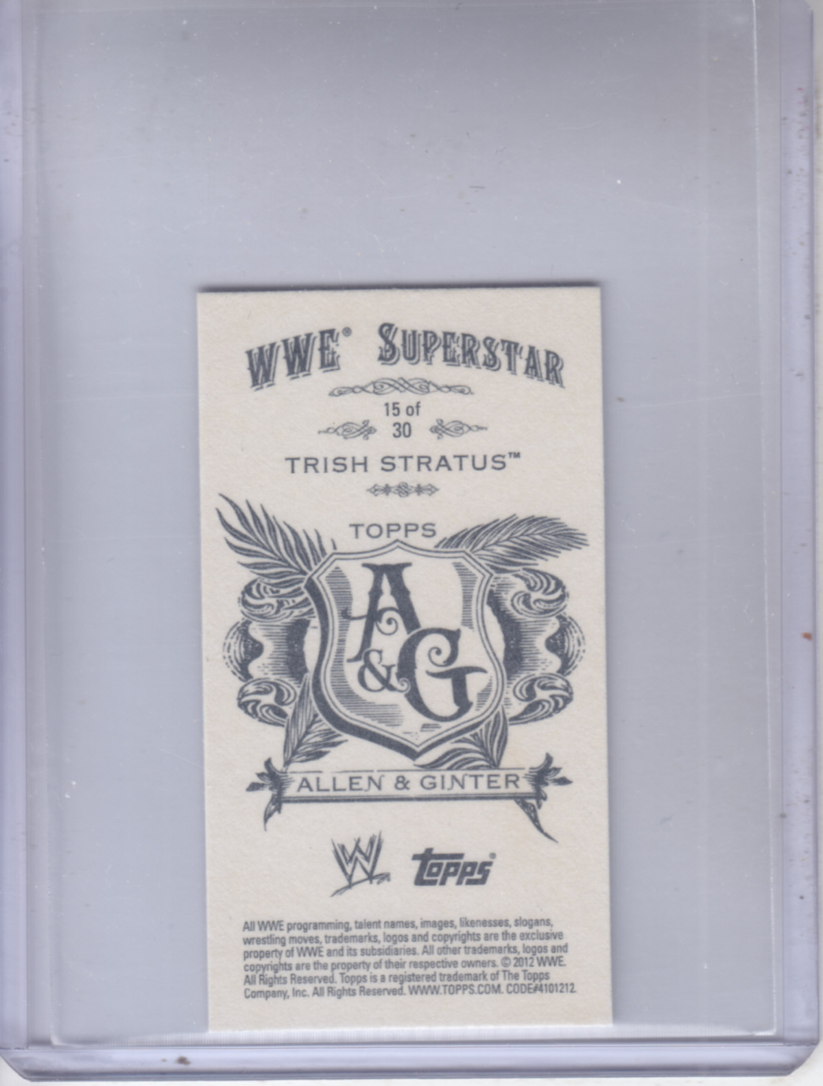 2012 Topps Heritage WWE Allen and Ginter #15 Trish Stratus