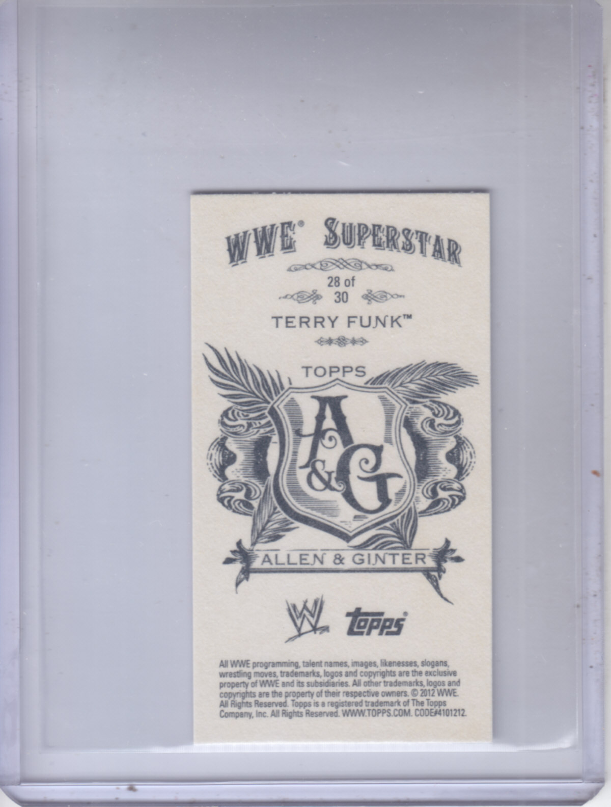2012 Topps Heritage WWE Allen and Ginter #28 Terry Funk
