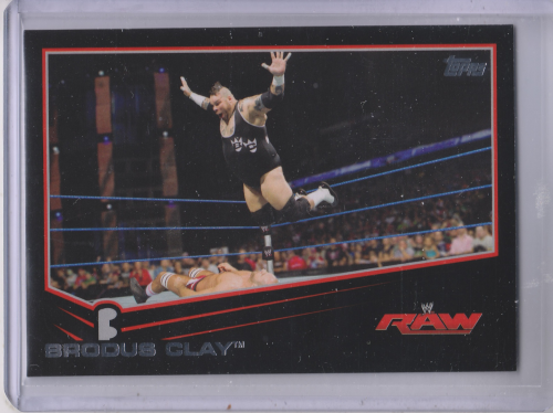 2013 Topps WWE Black #6 Brodus Clay